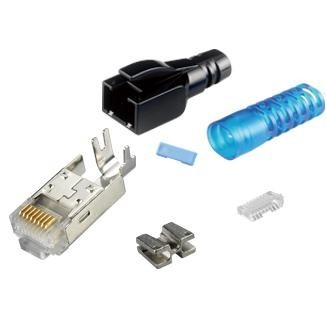 Multi-Piece Type RJ45 Plug for Cat 6A STP Cable - Multi-Piece Type RJ45 Plug for Cat6A STP Cable