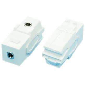 90° TRS 3.5mm Stereo Audio Coupler - 90° TRS 3.5mm Stereo Audio Coupler