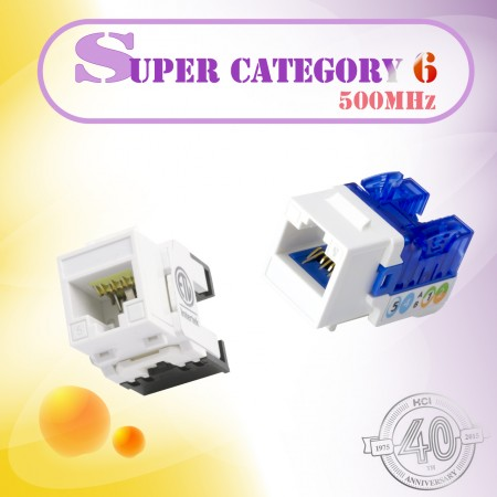 فئة السوبر 6 سلسلة - Super Category 6 Series Keystone jack