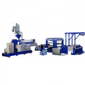 Pengambilan PE / PP Embossed Film Making Machine CPE 100T1300