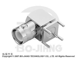 BNC Reverse Polarity R/A PCB MOUNT JACK - BNC Reverse Polarity R/A PCB Mount Jack