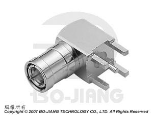 SMB R/A PCB MOUNT PLUG - SMB R/A PCB Mount Plug