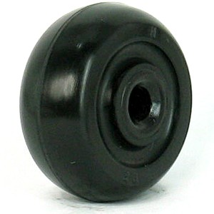 40mm Black Axle Rubber Wheels - 40mm Black Axle Rubber Wheels