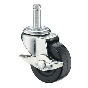 50mm Friction Ring Stem Casters With Hard Rubber Wheels - 50mm Friction Ring Stem Casters With Hard Rubber Wheels
