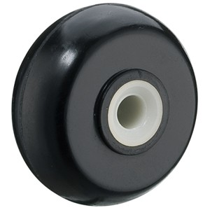 40mm White Axle Rubber Wheels - 40mm White Axle Rubber Wheels