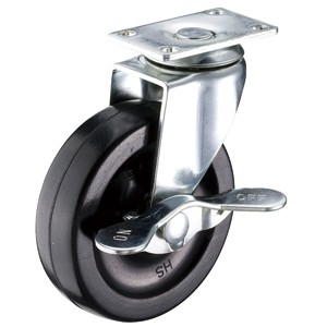 """3"""" x 13/16"""" Swivel Top Plate Casters With Soft Rubber Wheels - 3"""" x 13/16"""" Swivel Top Plate Casters With Soft Rubber Wheels"""
