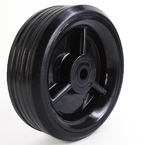 100mm Solid Rubber on Plastic Hub Wheels - 100mm Solid Rubber on Plastic Hub Wheels