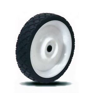 150mm Solid Rubber on Plastic Hub Wheels - 150mm Solid Rubber on Plastic Hub Wheels
