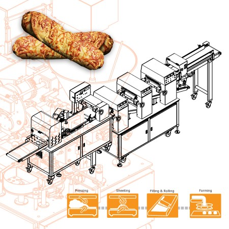 Automatic Beef Roll Production Line- Machinery Design for Taiwanese Company