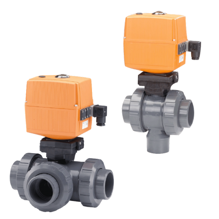 Electrically Actuated 3-Way Ball Valve