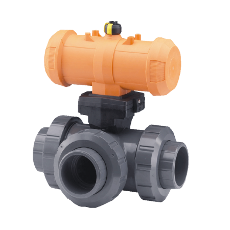 Pneumatically Actuated 3-Way Ball Valves