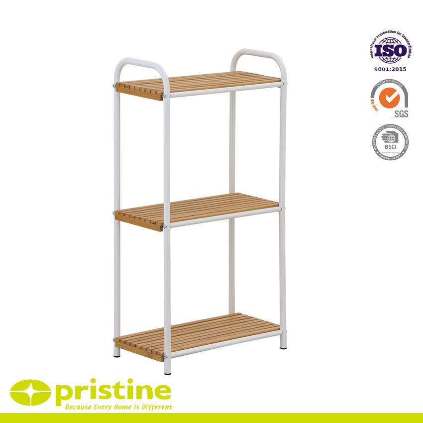 Bathroom Bamboo Holder 3 Tier Utility Shelf Home