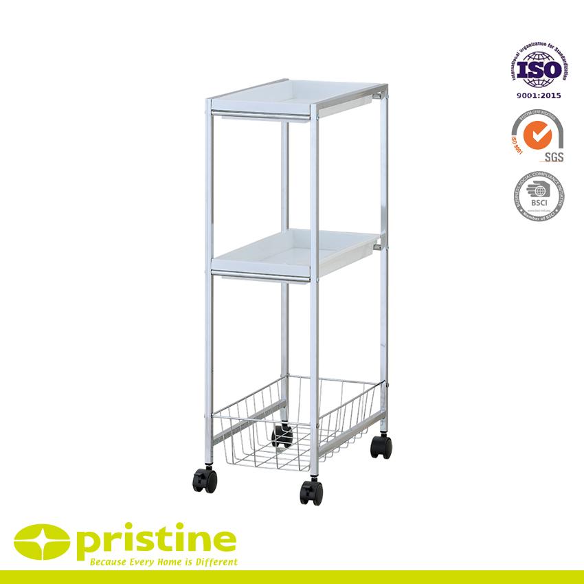 2-PP Tray Trolley mit 1-Draht Baseket Wohnaccessoires   Küchen- und ...