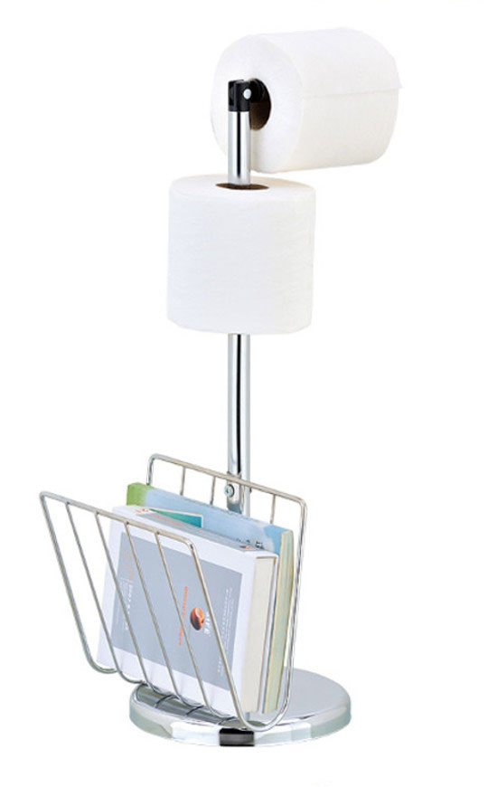 Free Standing Toilet Paper Amp Magazine Holder Home