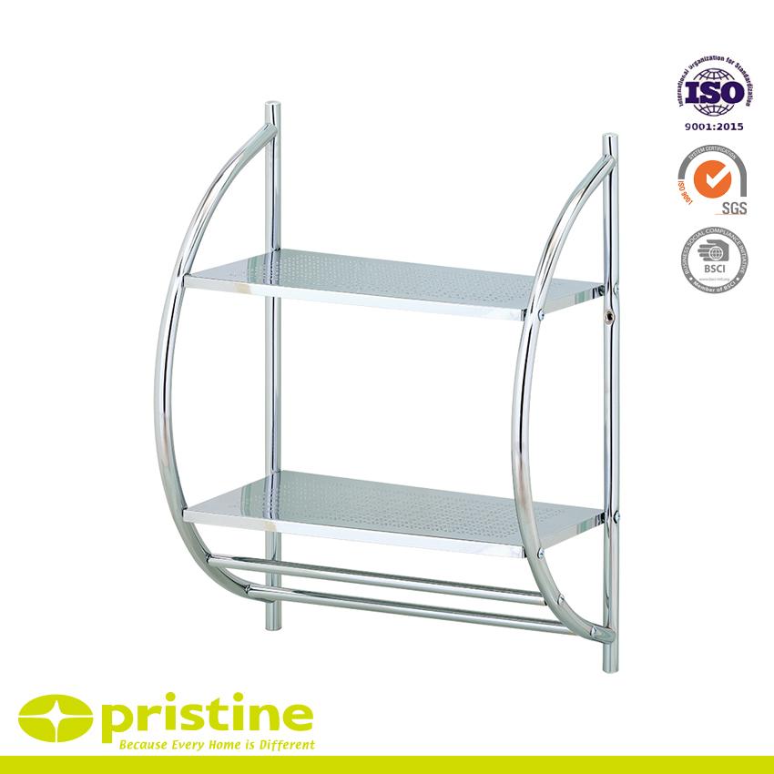2 Tier Chrome Wand Badezimmer Regal Metallmobelhersteller Huei