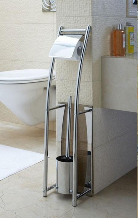 Brosse de toilette et porte papier accessoires pour la - Porte papier toilette et brosse ...