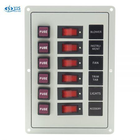 SP1126F-6P Classic Switch Panel