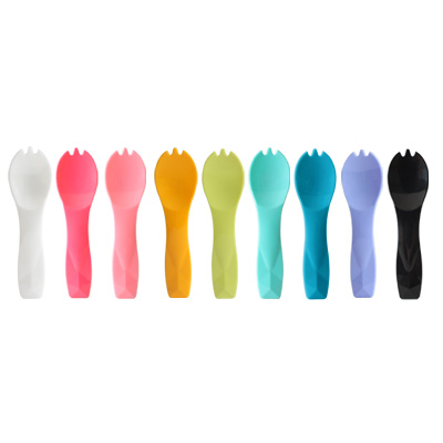 8cm Color Ice Cream Spoon with Spork Design - The plastic ice cream spork is design for the ice cream or yogurt.