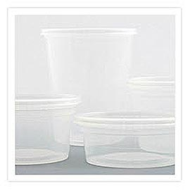 Microwavable Deli Container - Plastic Soup and Salad Container.