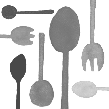 Classic Black Plastic Cutlery