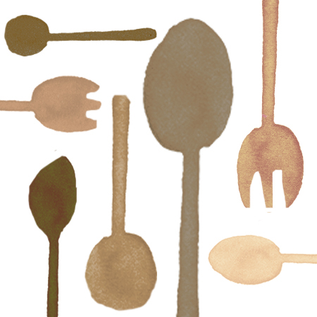 Comfortable Brown Plastic Cutlery
