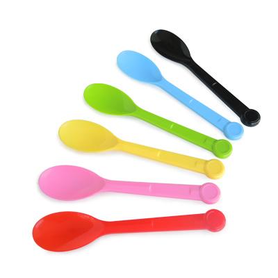 Sudu plastik 13.5cm - Spoon Ice Cream Spoon dari pembekal kilang, satu kotak mempunyai 2000 pcs.