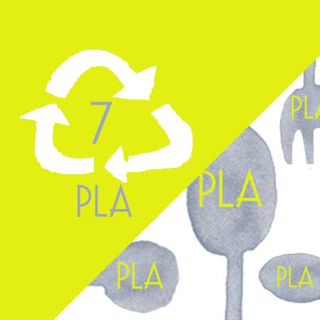 Taza de plástico desechable PLA