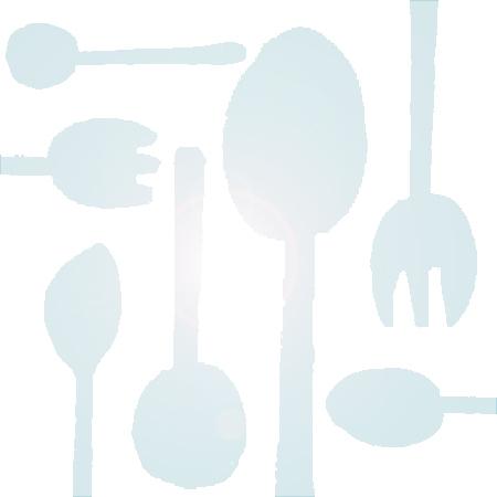 Прозрачные пластиковые столовые приборы