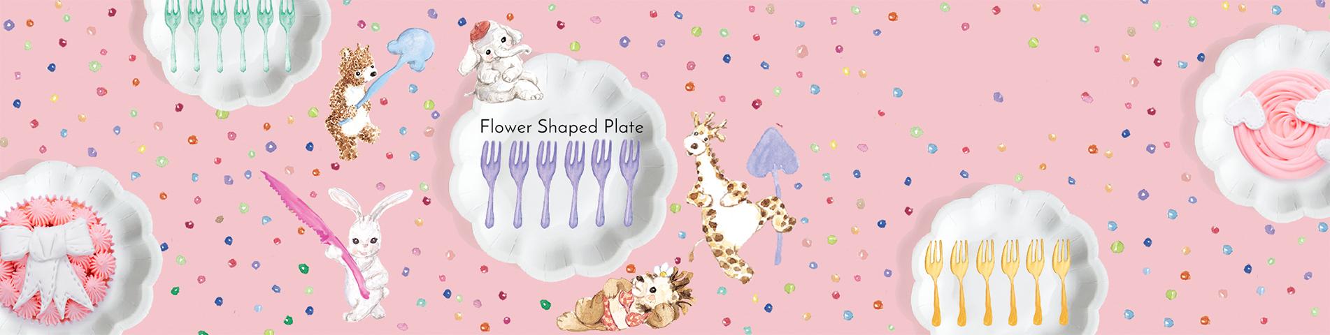최신 목록    작은 꽃 케이크 포크 세트    테이블을 더욱 눈길을 끄십시오.