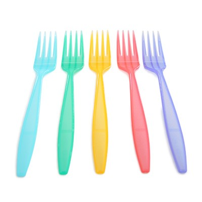 16.5cm Colorful Food Fork - Wholesale the carton with  high quality plastic fork.