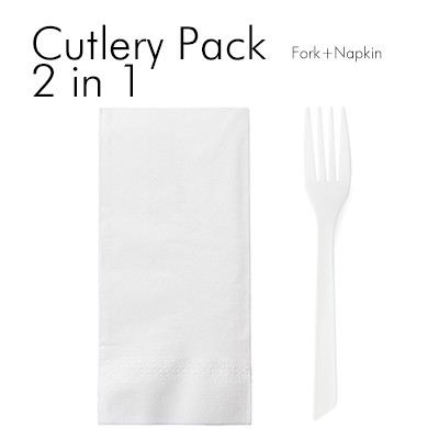 2 in 1 Fork Set - You can combine any tableware you want.