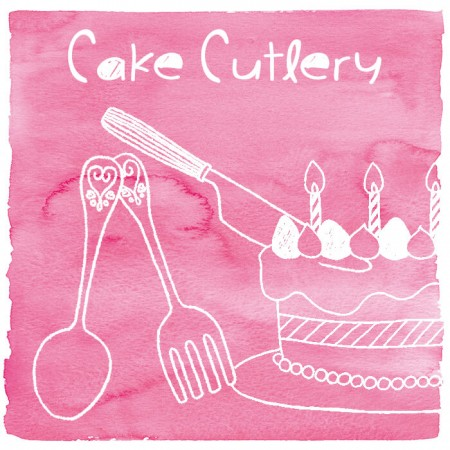 Cutlery Kue Plastik - Kutipan kek plastik dengan reka bentuk yang bergaya