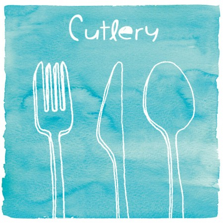 Cutlery Plastik - Kutub plastik untuk pencuci mulut, ais krim, salad