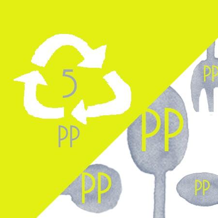 Cubiertos de plástico PP resistentes al calor