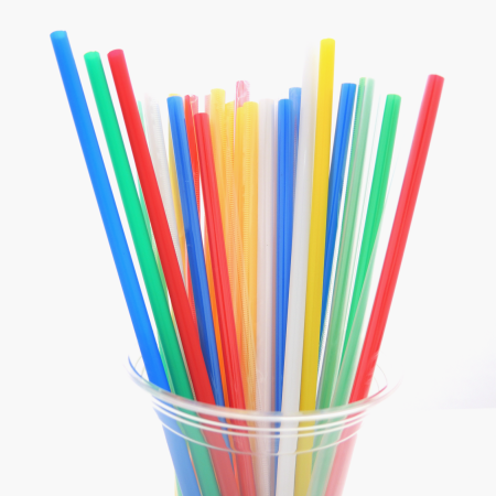 D:6mm Plastic Straight Straw (L:21cm) - D:6mm Plastic Straight Straw