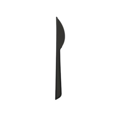 Hot Food Knife Black Color - Black Plastic Knife