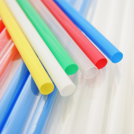 D:6mm Plastic Straight Straw (L:18cm) - D:6mm Plastic Straight Straw