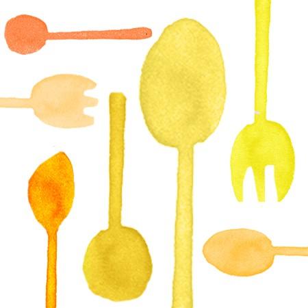 Cutlery Plastik Kuning Cerah