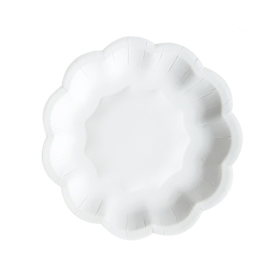 Paper Plate With Flower Shaped