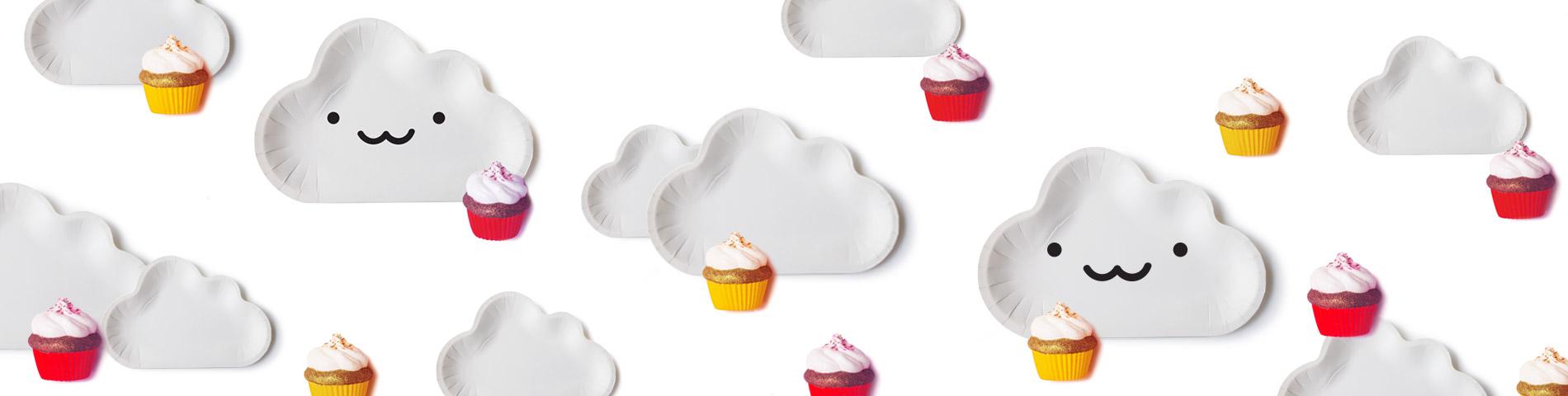 Dernier    En forme de nuage    Assiette à Gâteau