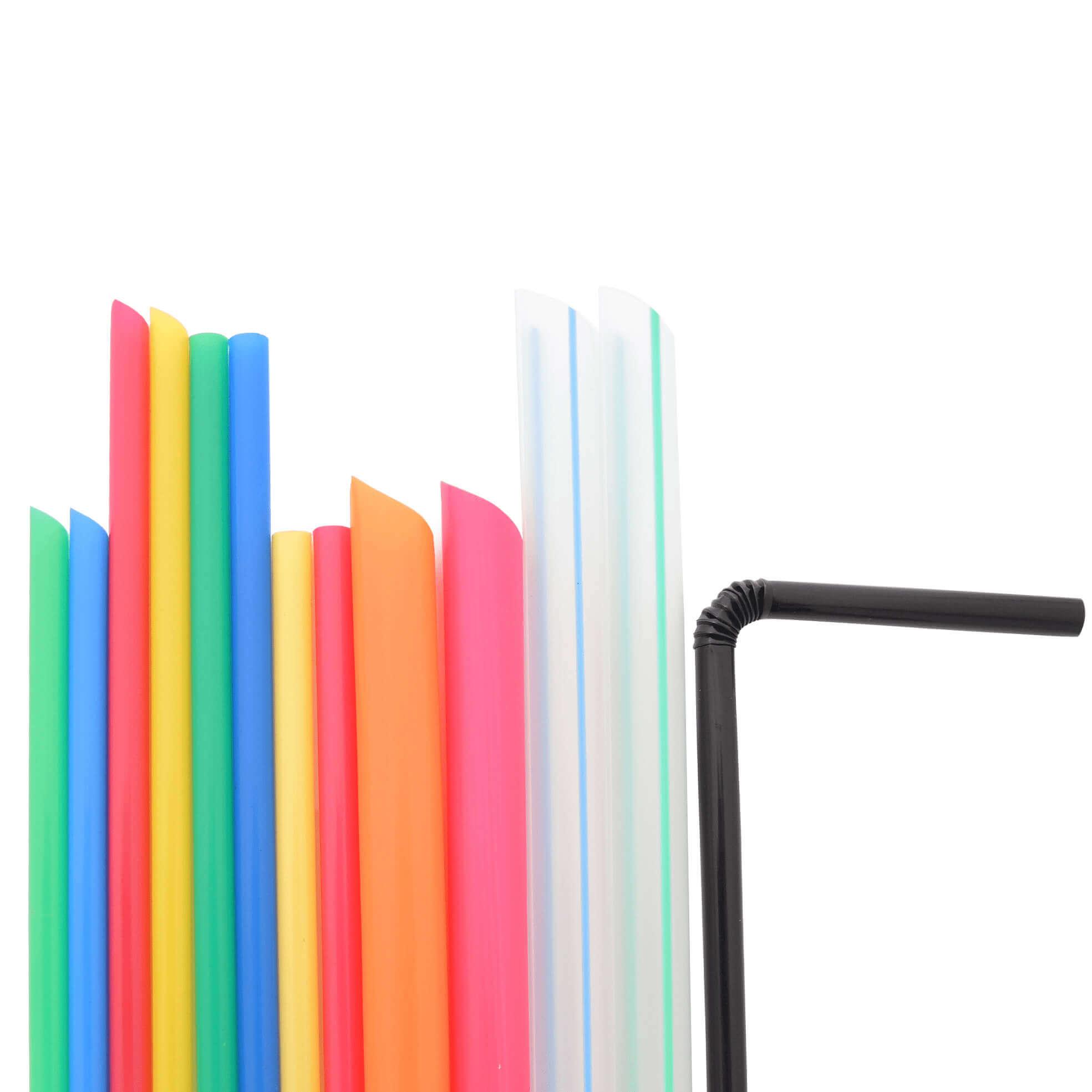 Paja de plástico - Paja de plástico de colores