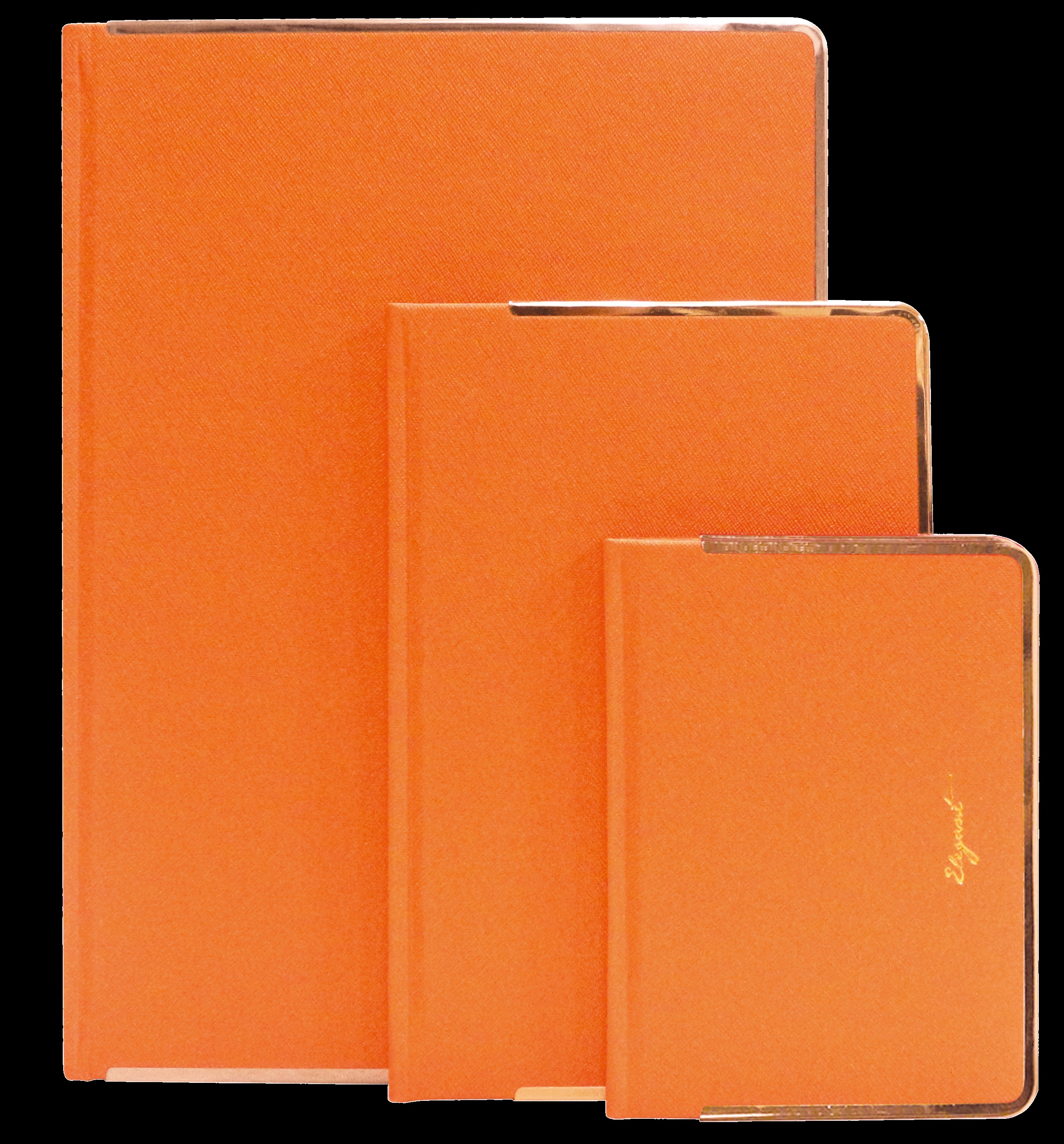 PU Leather Hardcover Journal with Contrast Color Metal Book Edge - 2016 Latest mature color PU with color corner series