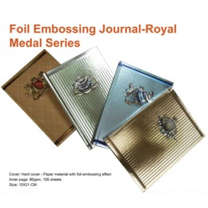 Foil Embossing Journal - Royal Medal Series - Foil Embossing Journal - Royal Medal Series