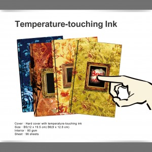 Temperature hot touch journal - Thermal sensors ink journal