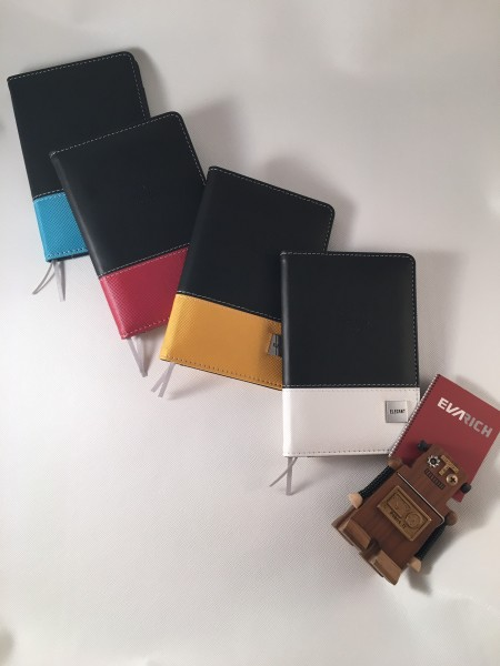 Mixed 2 Farben Mini PU Leder Journal
