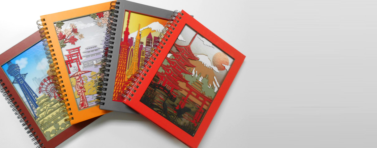 3D laser cut notebooks