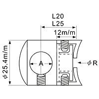 Fixing Base Through Hole Radiused ( SS:0474A) - Fixing Base Through Hole Radiused ( SS:0474A)