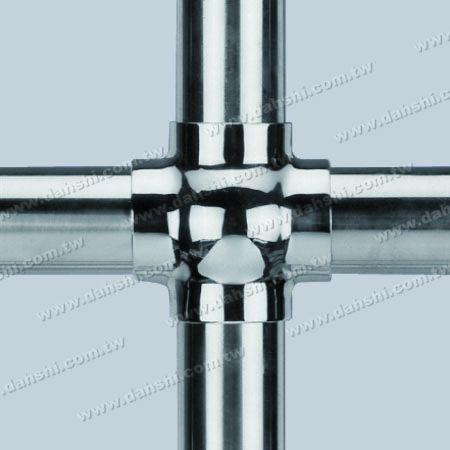 不銹鋼圓管插內十字型四通 - 圓型 - 脫蠟製造