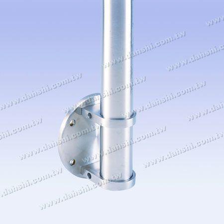 Stainless Steel Round Tube Handrail Bracket Round Back - Tube Through - Stainless Steel Round Tube Handrail Bracket Round Back - Tube Through