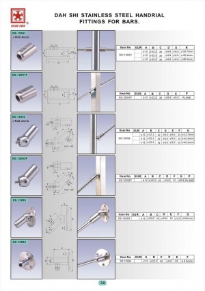 Dah Shi exquisite Stainless Steel Accessories of Handrails / Balustrades / Metal Building Materials. - Guardrail pipe assembly, call Dah Shi to save your trouble in the construction quality.